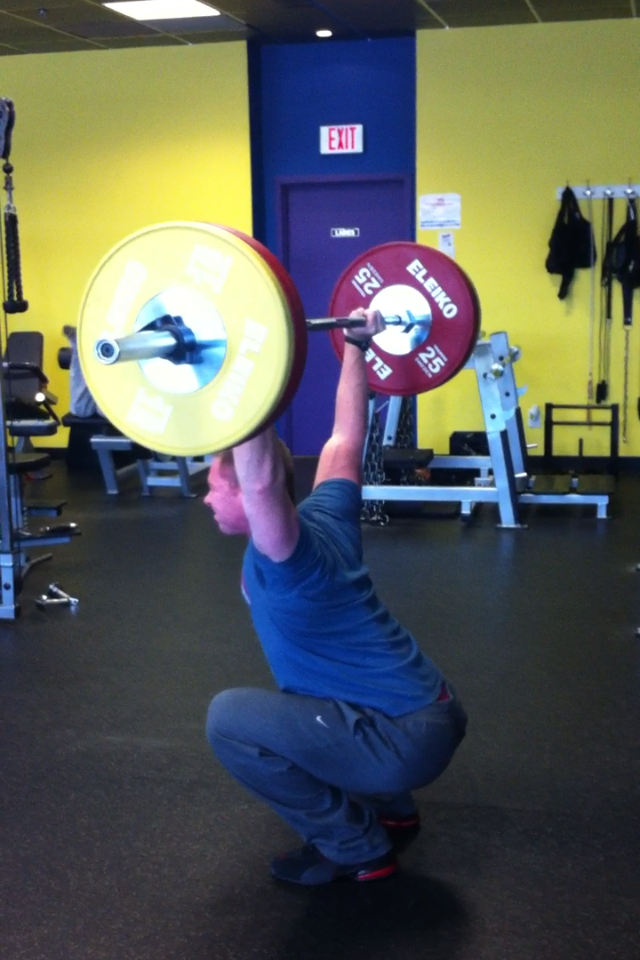 coach paul newt overhead squats
