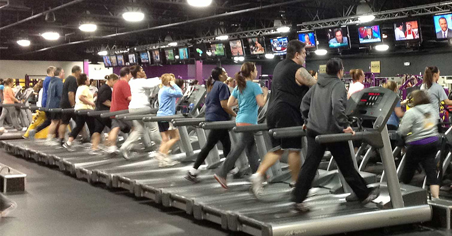 crowded ineffective gyms