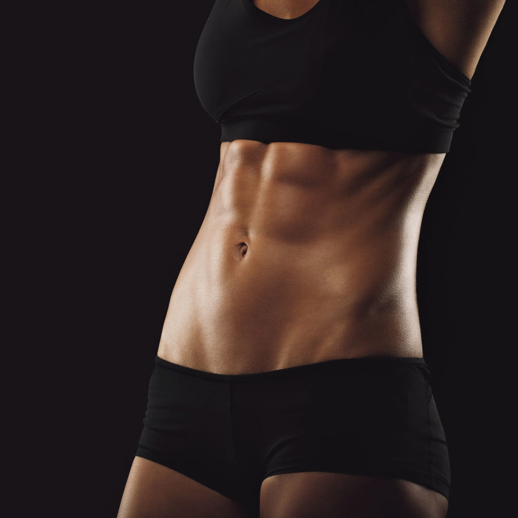 woman fit abs
