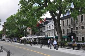 quebec city sidewalk cafes