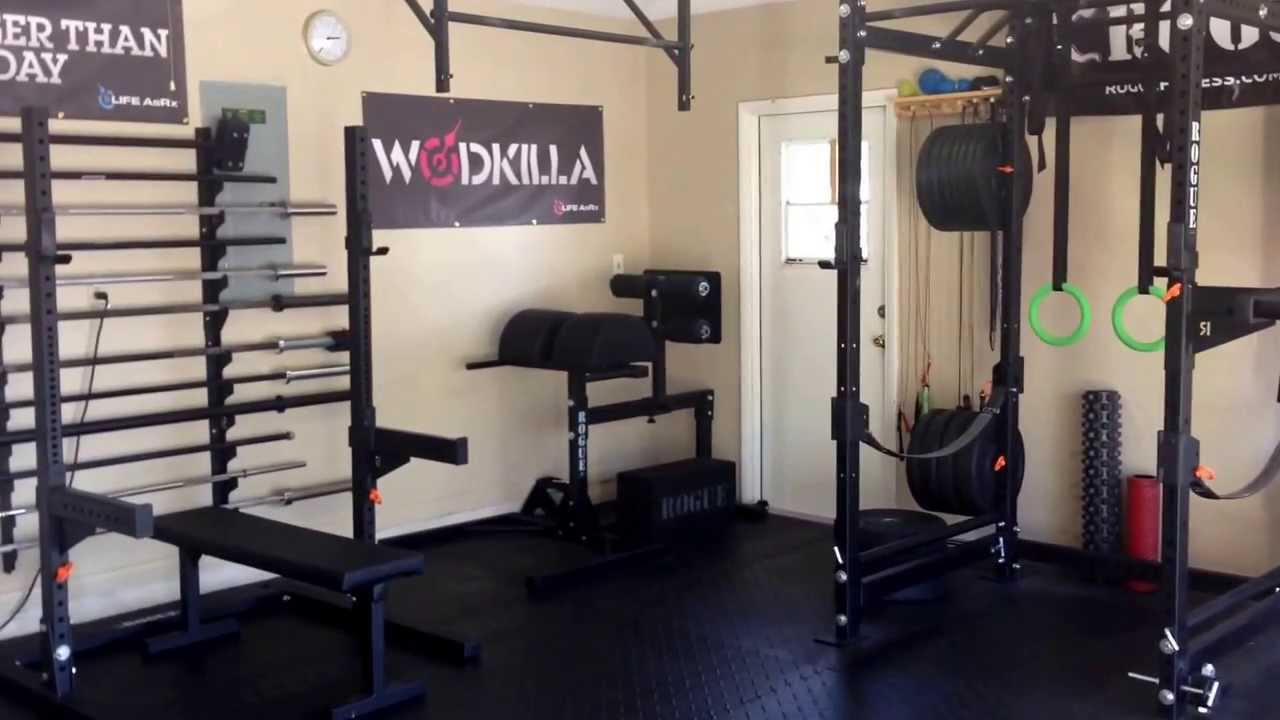 pretty good home gym setup